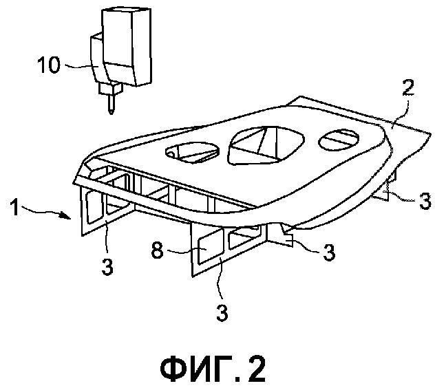 Опорная конструкция для детали транспортного средства, в частности автотранспортного средства
