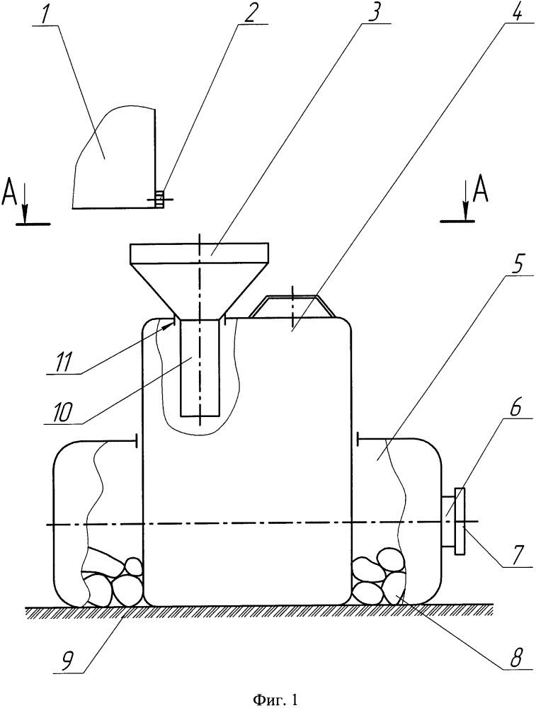 Устройство для сбора отработанных масел при техническом обслуживании машин в полевых условиях