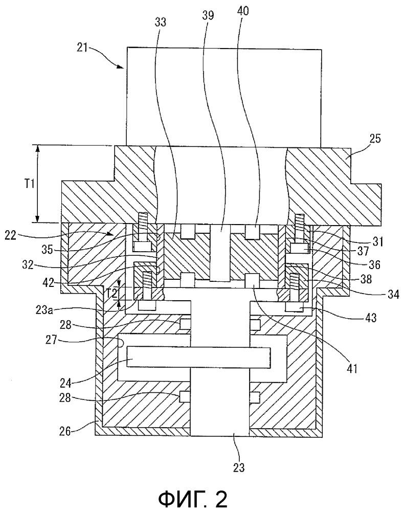 Механизм регулирования степени сжатия для двигателя внутреннего сгорания