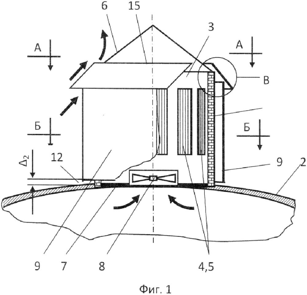 Вытяжное устройство для оголовка купола