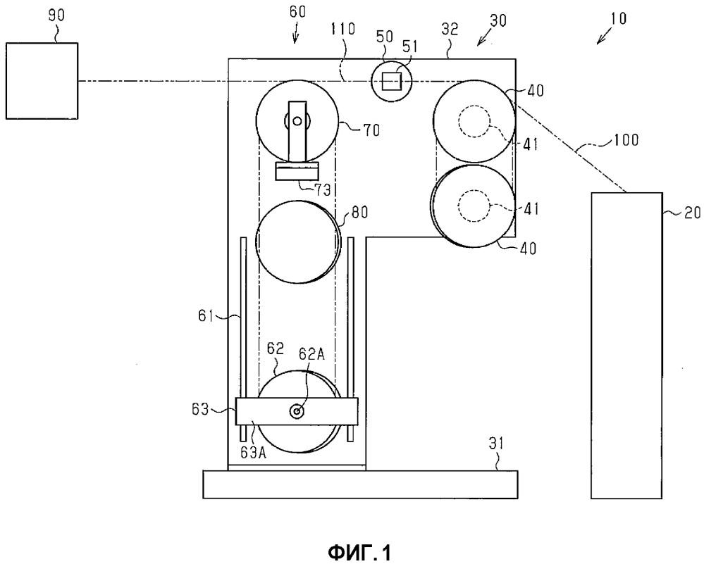 Устройство для формирования сердечника борта шины