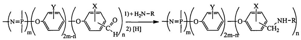 Способ получения аминосодержащих производных циклофосфазенов