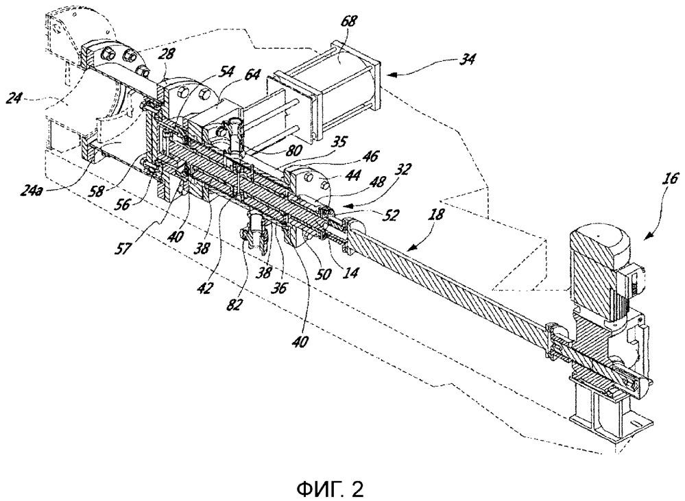 Система уплотнения для вращающегося вала резервуара