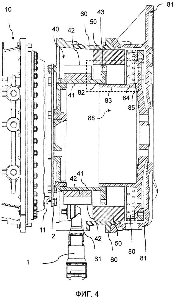 Трансмиссионный модуль для транспортного средства и способ монтажа и демонтажа трансмиссионного модуля