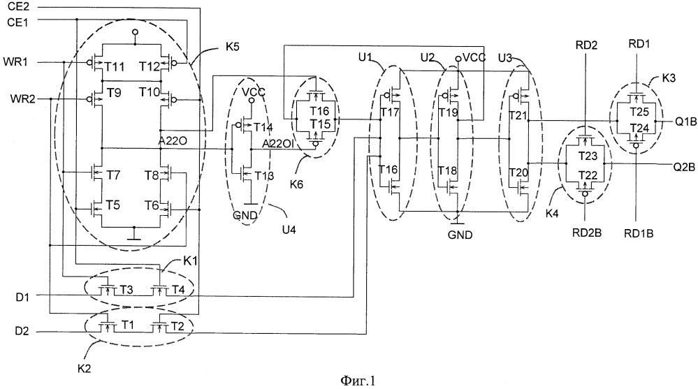 Многопортовая ячейка оперативного запоминающего устройства