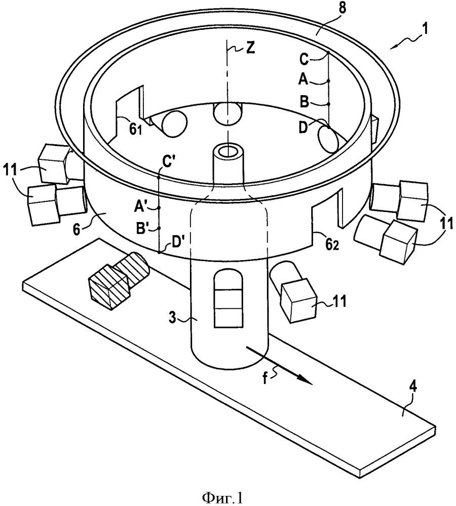 Способ и устройство для наблюдения и анализа оптических особенностей стеклянных сосудов