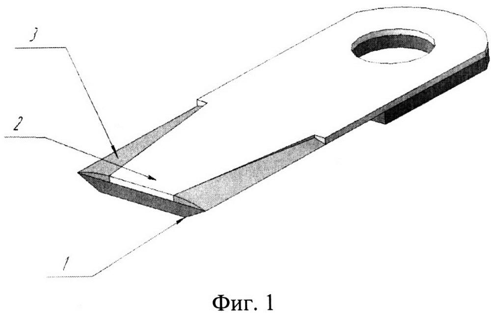 Способ изготовления ножа соломоизмельчителя