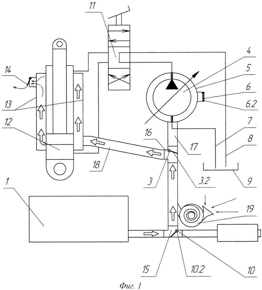 Система энергосберегающего контурного прогрева элементов гидропривода