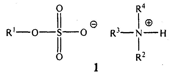 Способ получения алкиламмонийных солей алкилсерных кислот