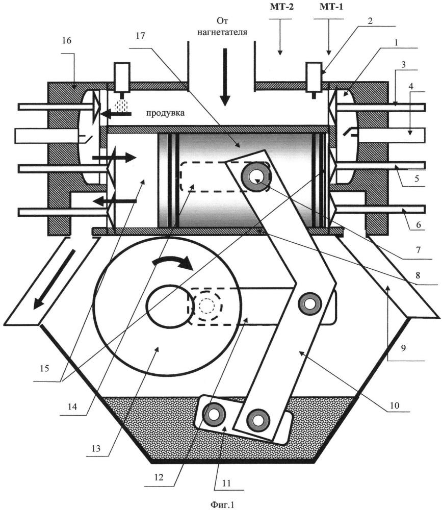 Однотактный двигатель внутреннего сгорания