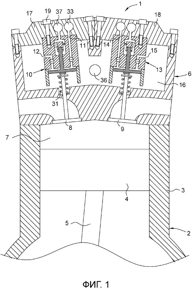 Двигатель внутреннего сгорания и закрывающий узел для него