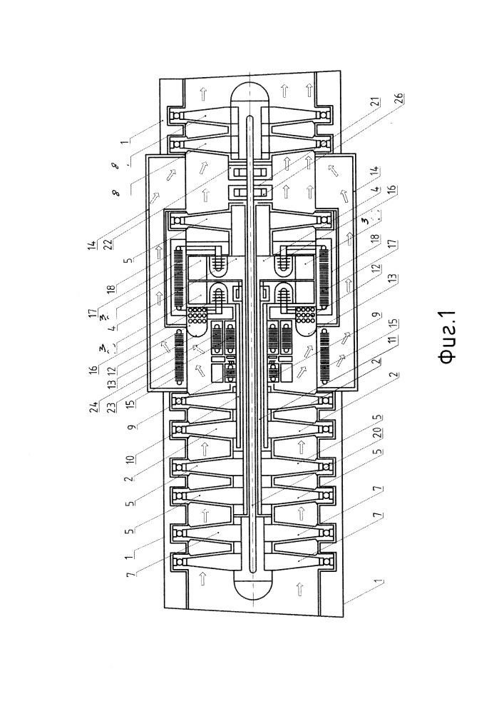 Турбореактивный двигатель с системой охлаждения двух турбин высокого давления