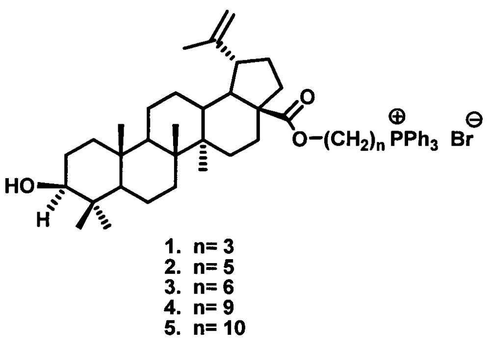 Фосфониевые соли на основе бетулиновой кислоты, обладающие цитотоксической активностью в отношении аденокарциномы предстательной железы