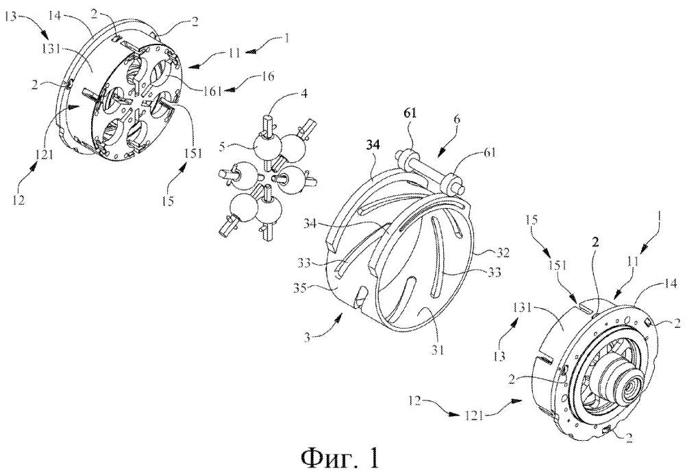 Кольцевой приводной механизм бесступенчатой трансмиссии