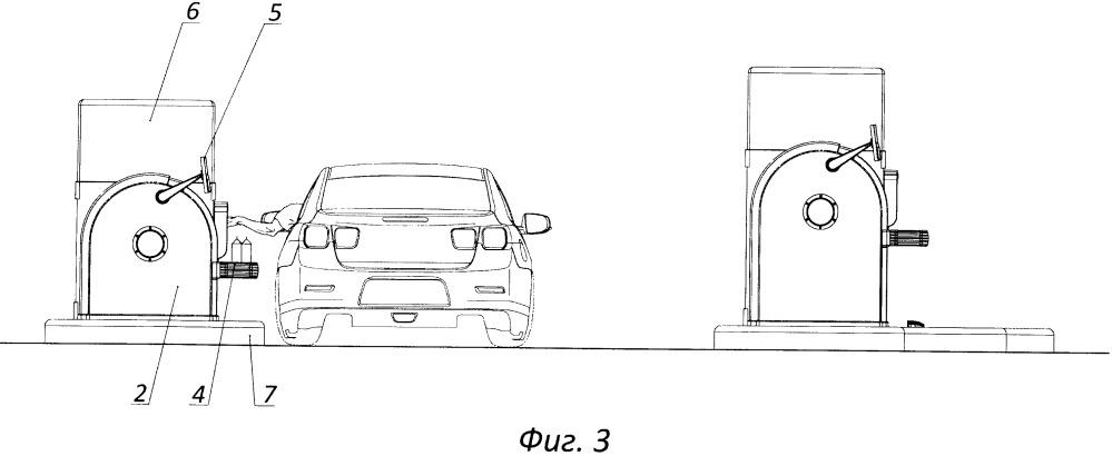 Магазин быстрого обслуживания покупателей на автомобилях