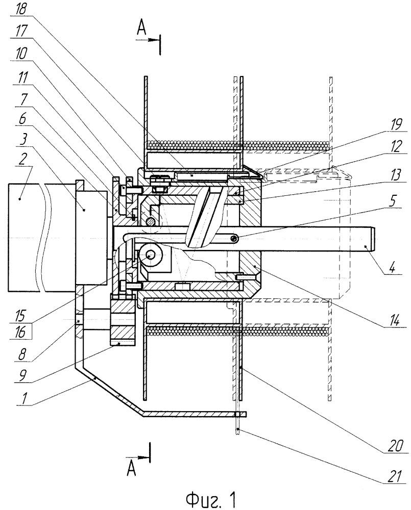 Устройство для укладки гибкого тягового органа на барабан лебедки