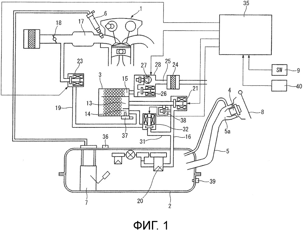 Диагностическое устройство для устройства обработки испарившегося топлива