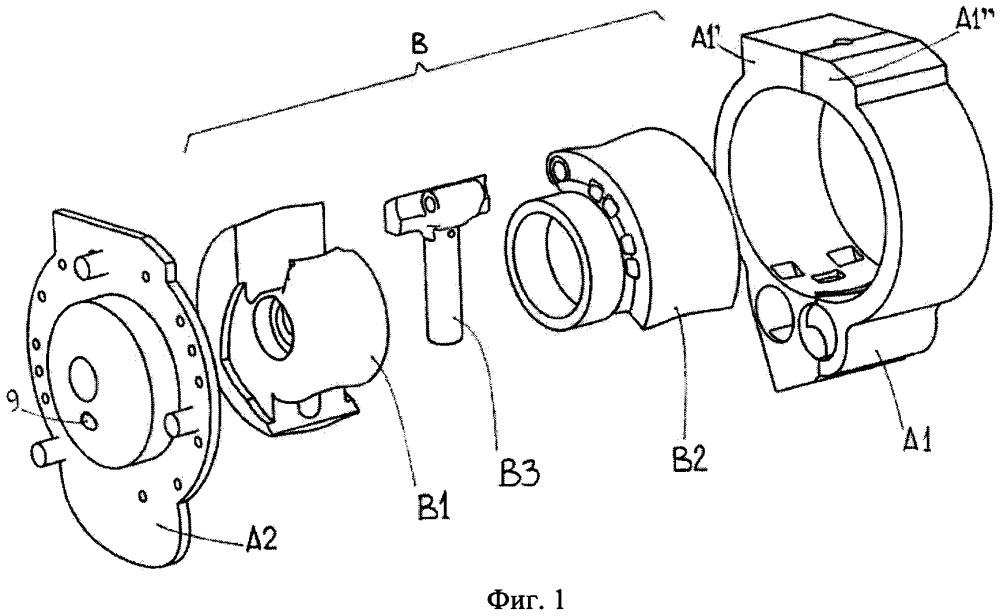 Двигатель внутреннего сгорания роторного типа с двойным центром вращения