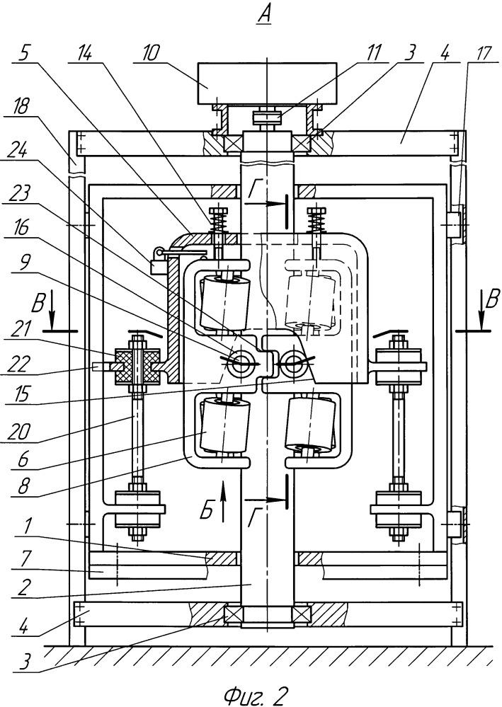 Фрикционный привод каретки вертикального подъемника