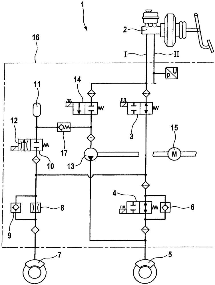 Тормозная система автотранспортного средства с гидравлическим приводом и регулированием тормозных сил по сцеплению колес с дорогой