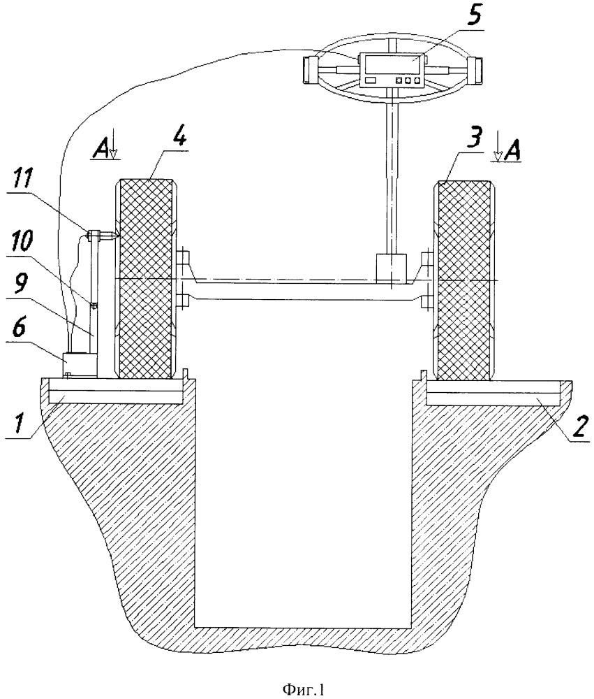 Стенд для измерения суммарного люфта рулевого управления