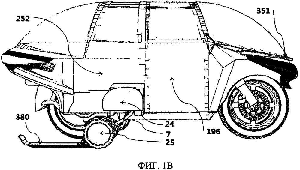Мотоцикл с автоматическим опорным колесным устройством