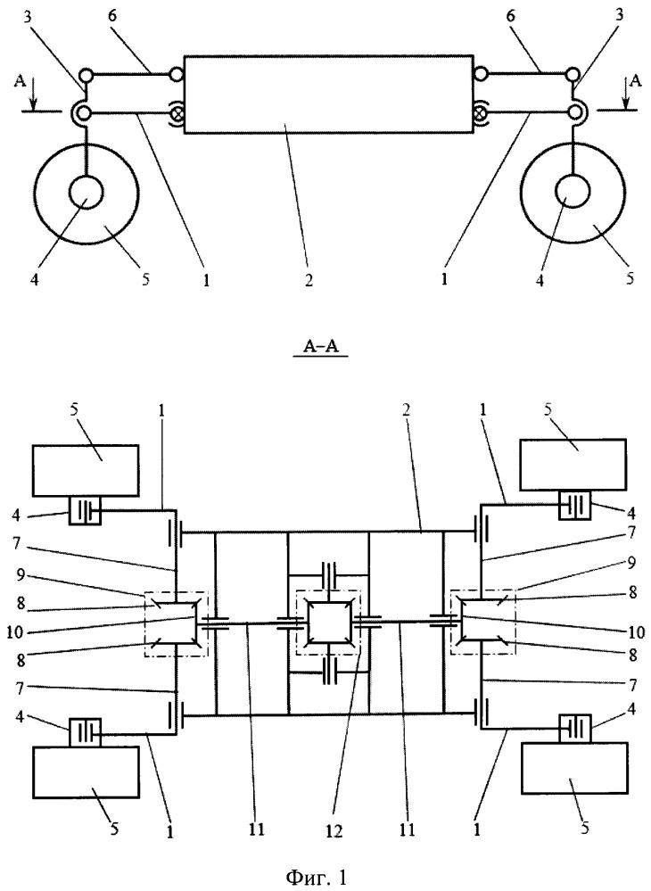 Балансирная подвеска четырёхколесного транспортного средства