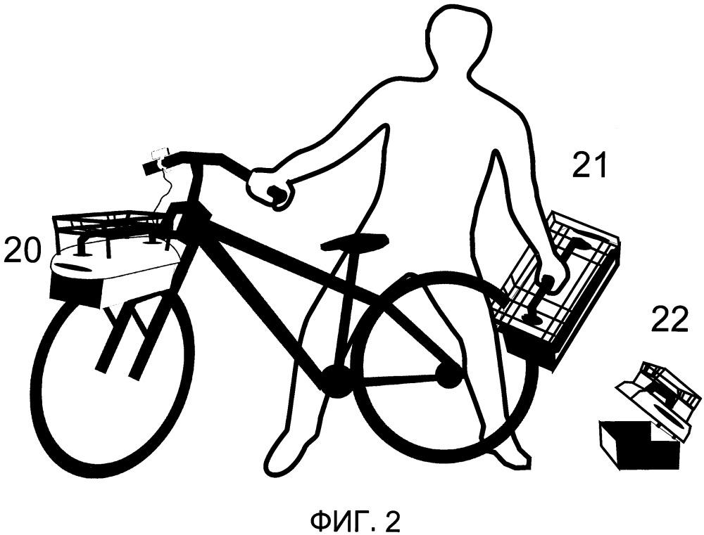 Дополнительный привод велосипеда, интегрированный с многофункциональным быстросъемным багажником
