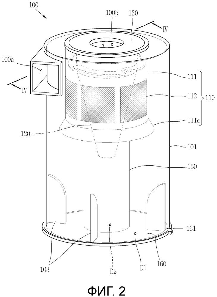 Пылесборное устройство для пылесоса