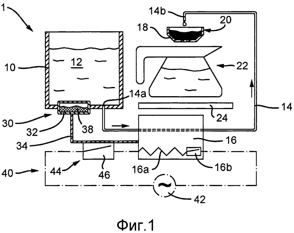 Устройство для приготовления горячих напитков с механизмом автоматического снижения энергопотребления