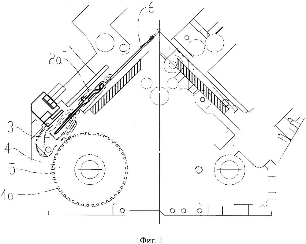 Система вязания перчаточной машины с отбором игл