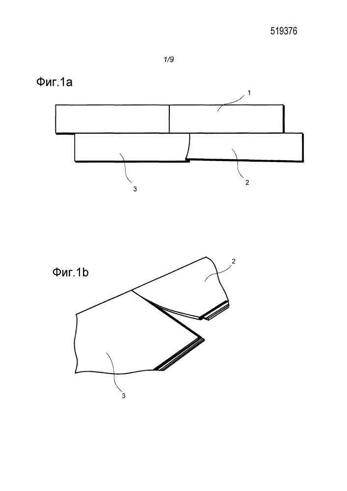 Способ сборки эластичных паркетных досок, которые снабжены механической блокирующей системой, и набор эластичных паркетных досок
