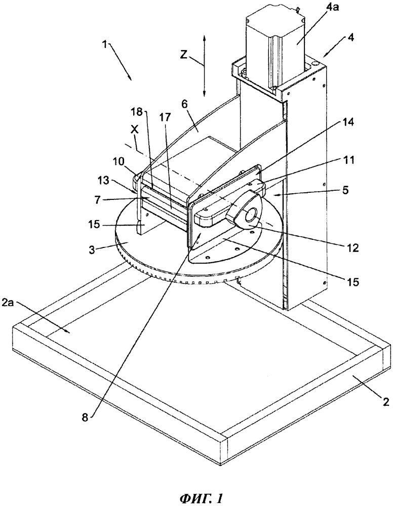 Стереолитографическая машина с упрощенной процедурой инициализации