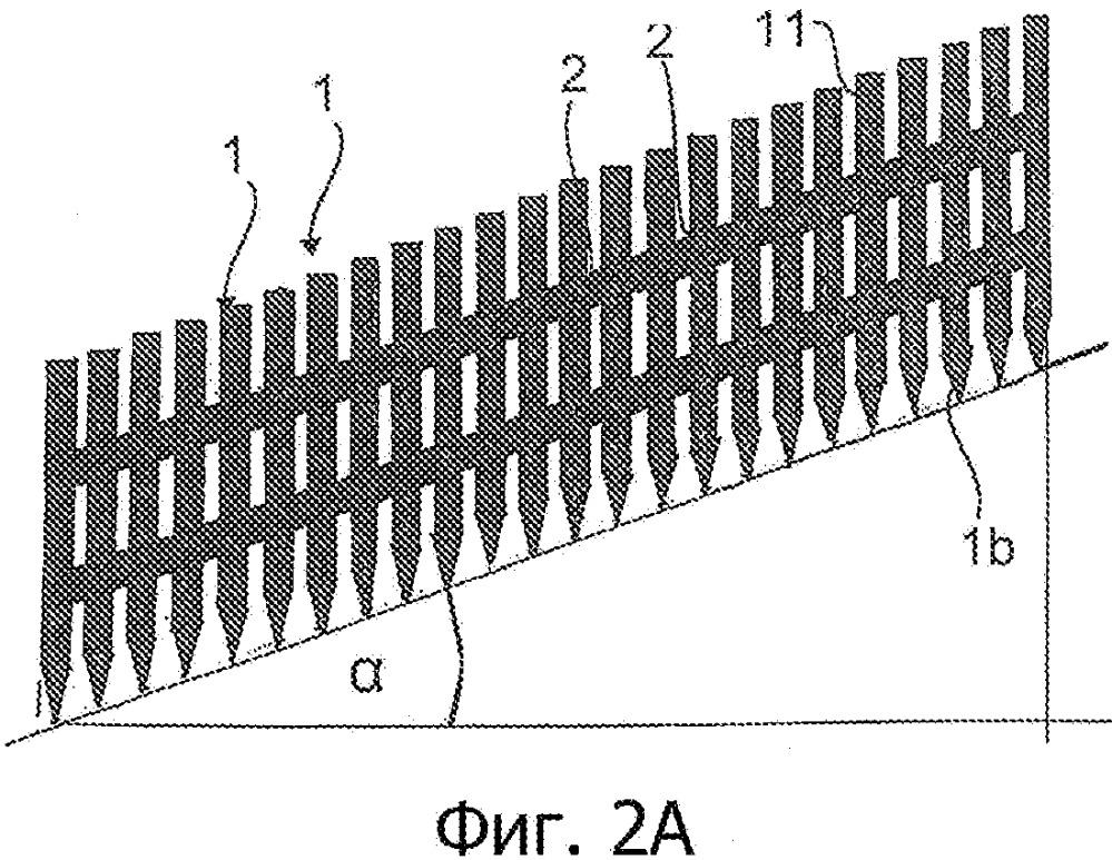 Лента гвоздей из одеревенелого растительного материала