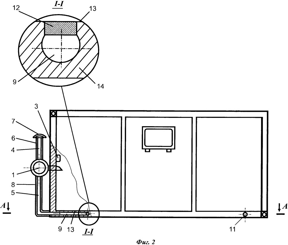 Выпускная система отопительно-вентиляционной установки кузовных объектов