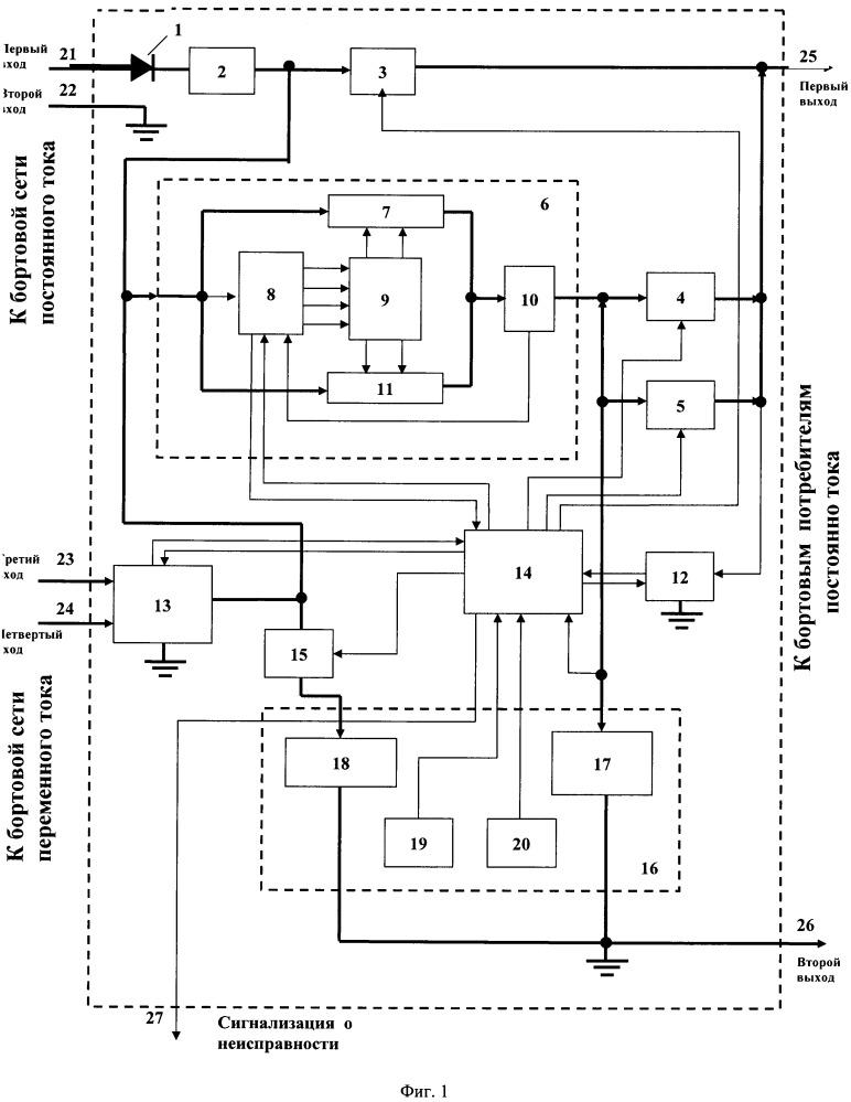 Источник бесперебойного электропитания бортовой аппаратуры