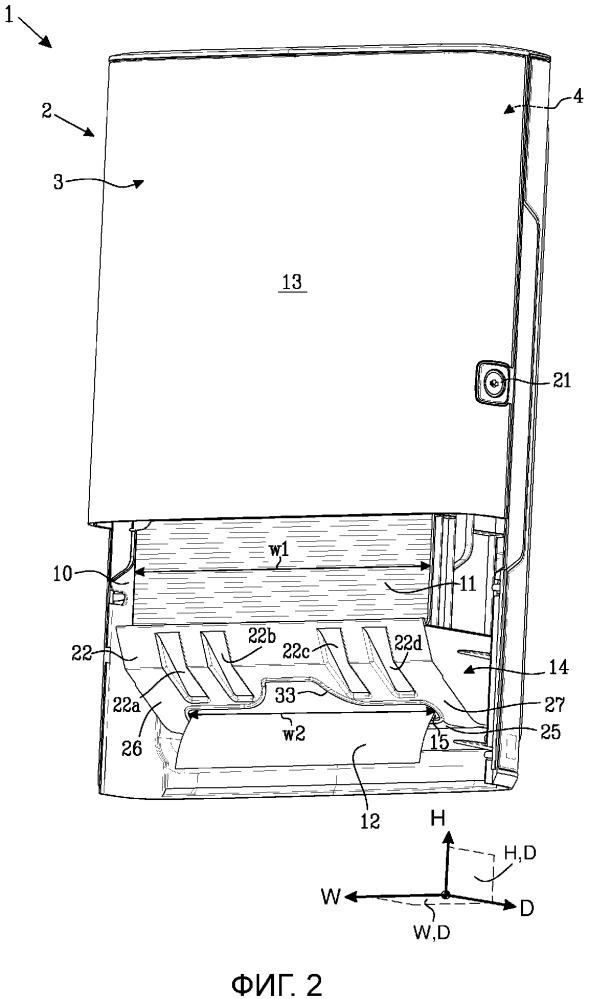 Раздаточное устройство для стопки полотна материала