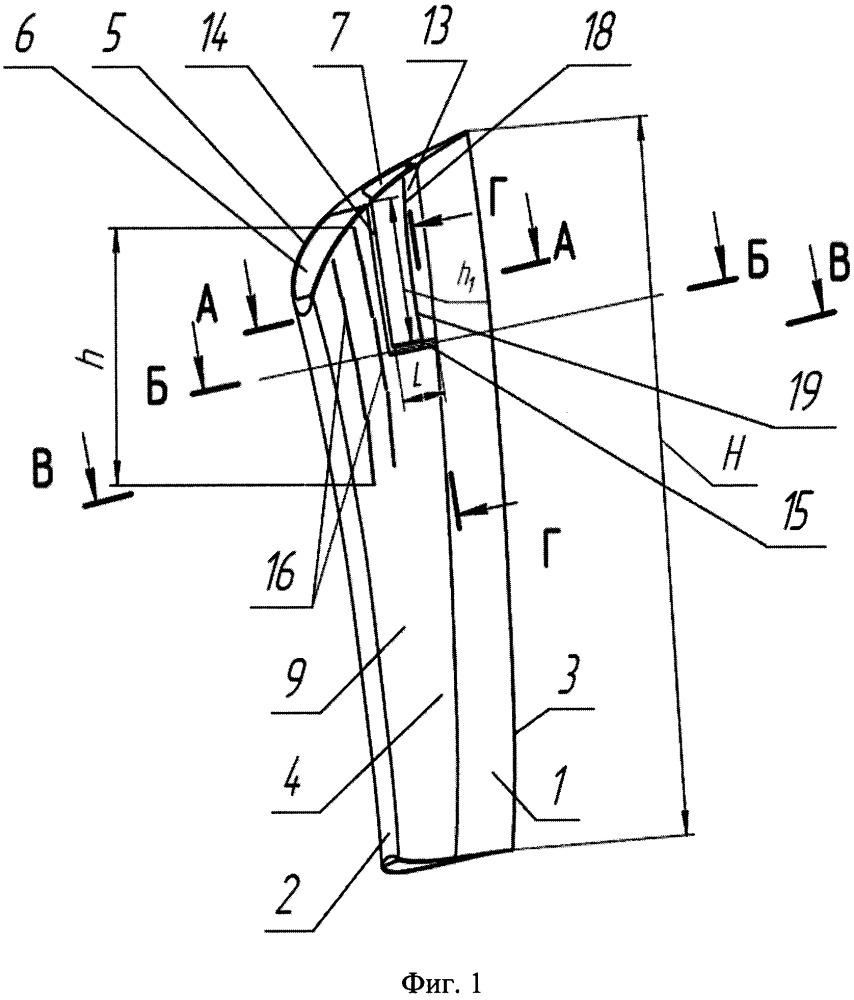 Направляющая лопатка влажнопаровой турбины