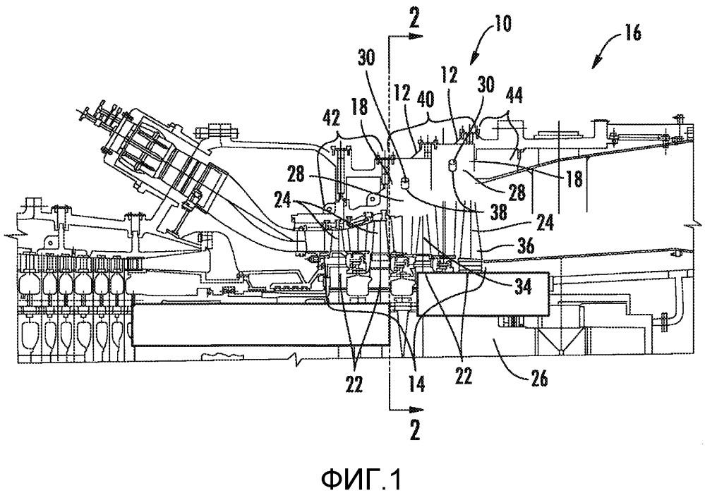 Система регулирования температуры отключения турбинного двигателя с вспрыскивающим соплом для газотурбинного двигателя