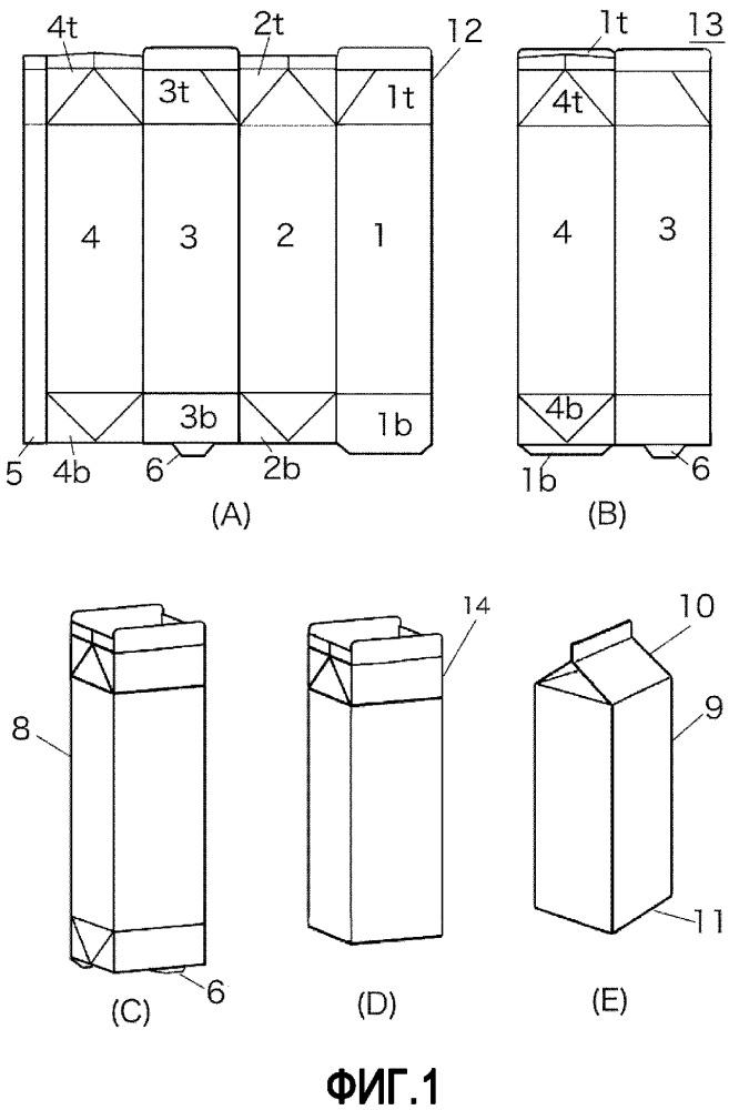 Упаковочное и наполнительное устройство, бумажная емкость и заготовка