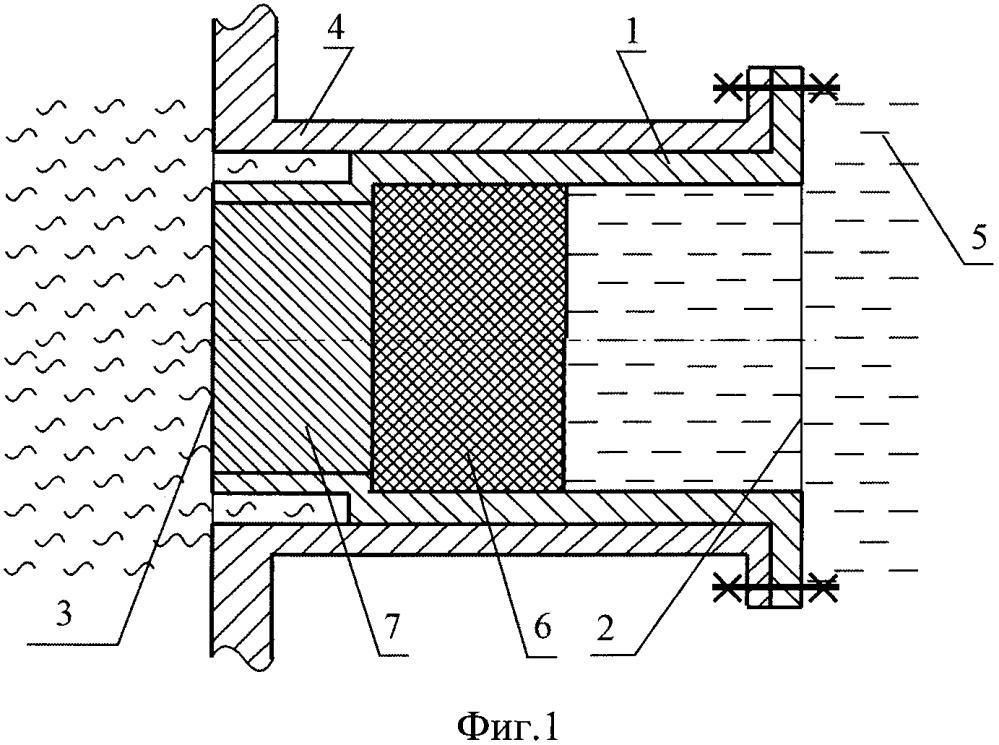 Аварийный термоклапан одноразового действия