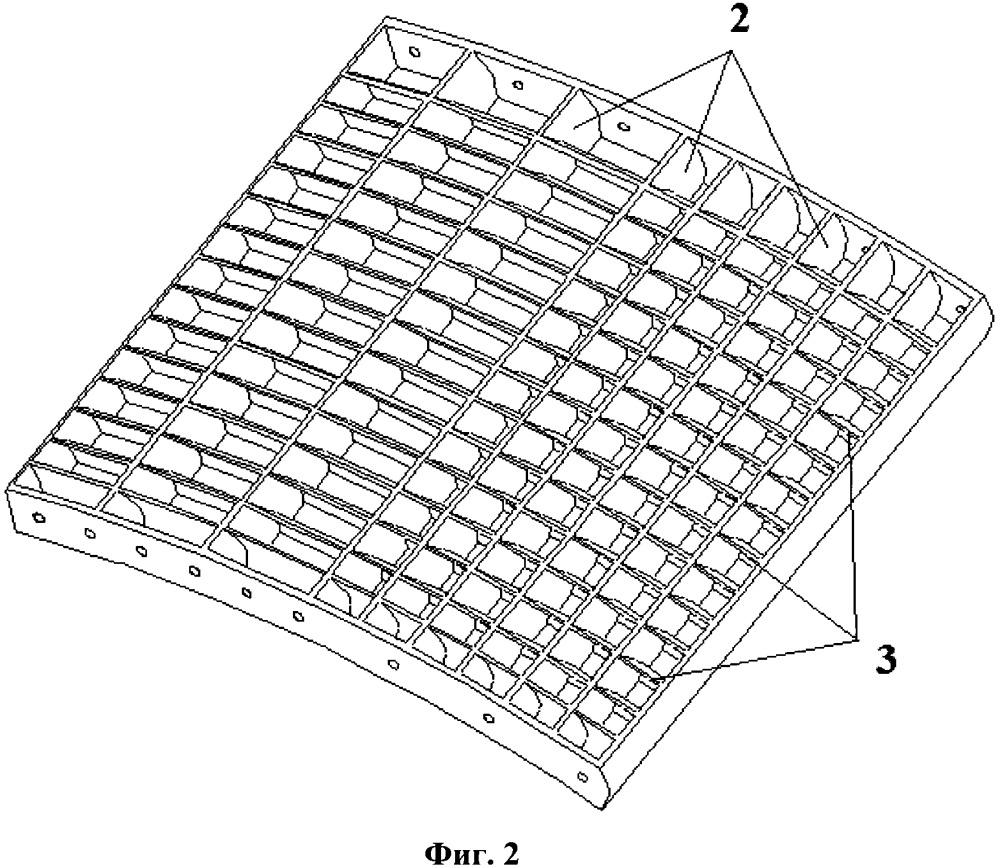 Отклоняющая решетка реверсивного устройства наружного корпуса двигателя