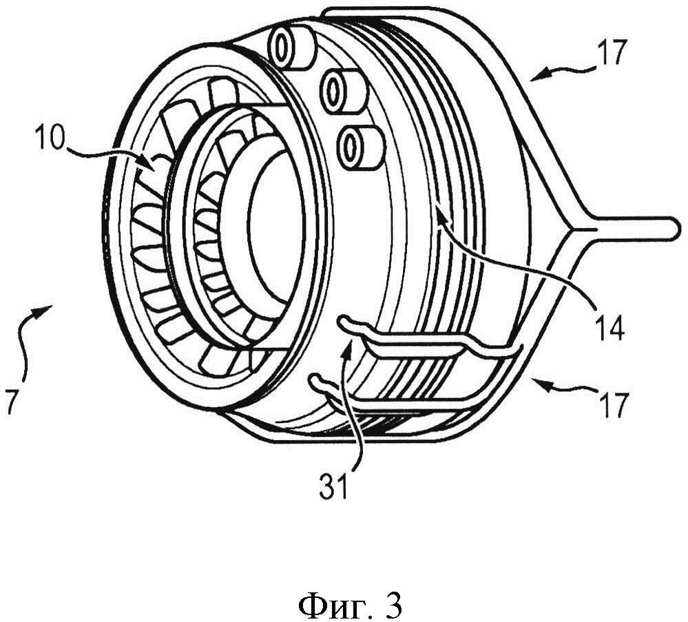Газотурбинный двигатель с отбором потока сжатого воздуха