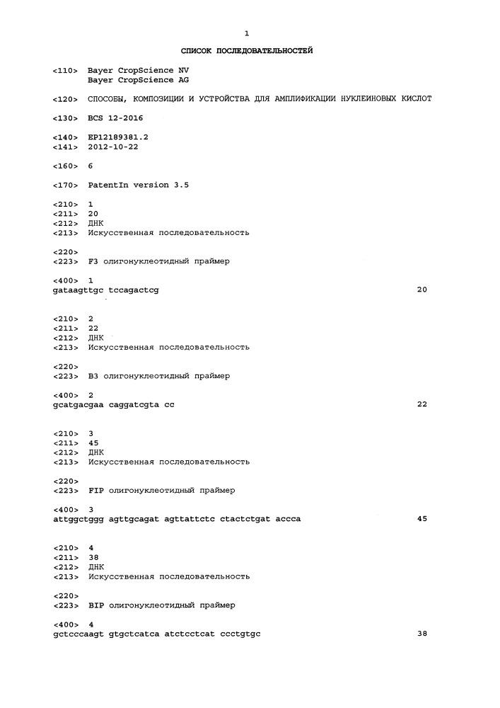 Способы, композиции и устройства для амплификации нуклеиновых кислот