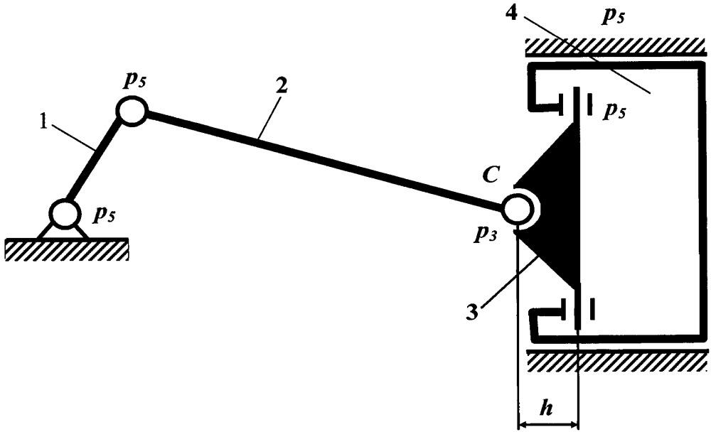 Уравновешенный кривошипно-ползунный механизм