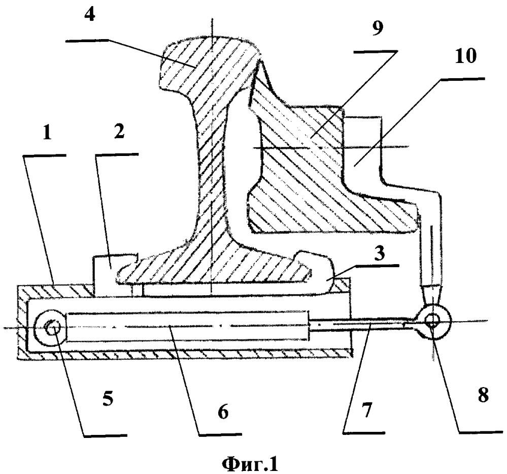 Диагностическое устройство контроля плотности прижатия остряка к рамному рельсу, подвижного сердечника крестовины к усовику стрелочных переводов