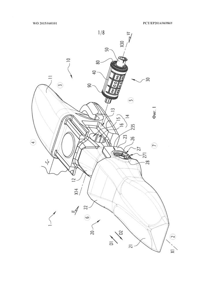 Механическая система, содержащая соединительное приспособление между изнашиваемой деталью и ее держателем, и ковш строительной машины