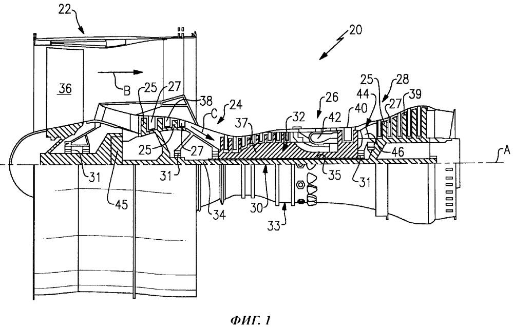 Способ задания передаточного отношения зубчатой передачи вентиляторного привода для газотурбинного двигателя