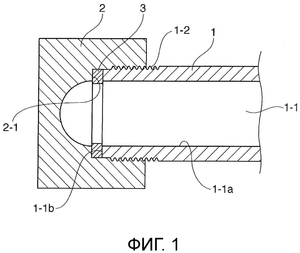 Структура концевого уплотнения топливной рампы для бензинового двигателя с прямым впрыском топлива