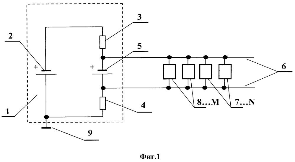 Источник питания двухпроводной линии связи